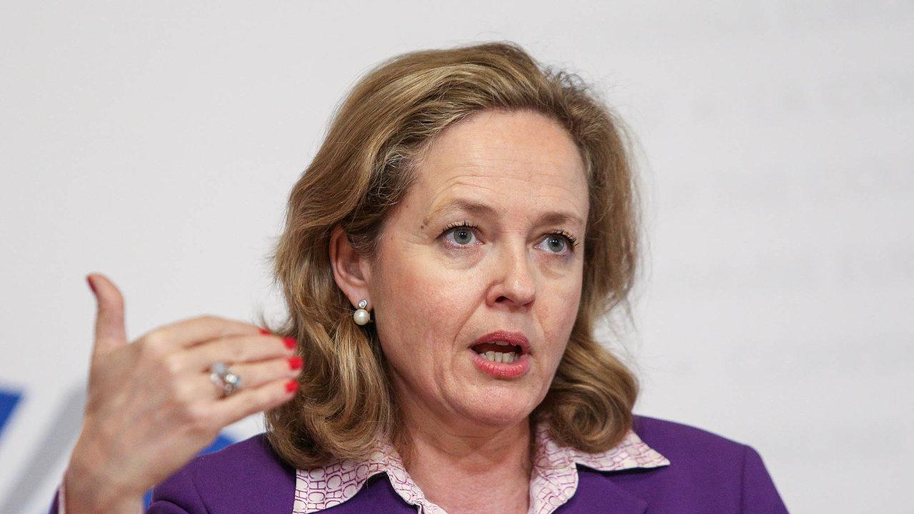 Daň zavedeme. Ministryně hospodářství Nadia Calviňová slibuje zdanění velkých internetových firem. Spekuluje se oní jako onové šéfce Mezinárodního měnového fondu.
