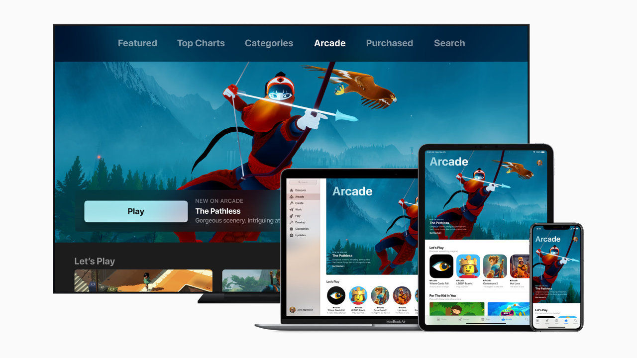 Apple sází na dostupnost exkluzivních her i na počítačích Mac a zařízení AppleTV.