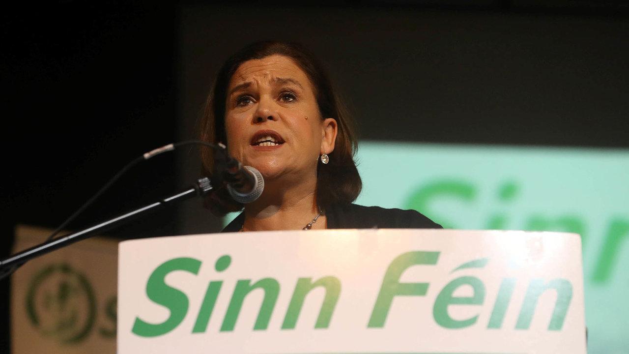 Šéfka Sinn Féin Mary Lou McDonaldová.