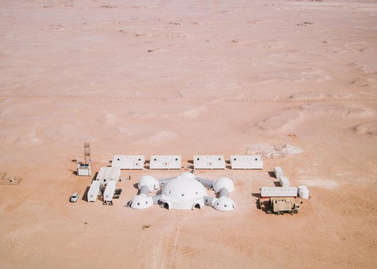 Testovací komplex v Negevské poušti.
