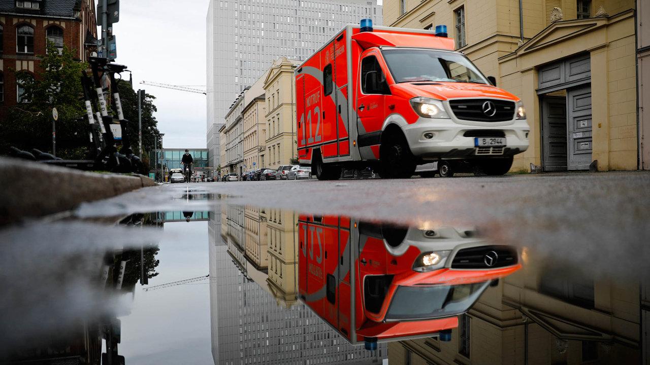 Berlínská klinika Charité, kam byl Navalnyj převezen zRuska.