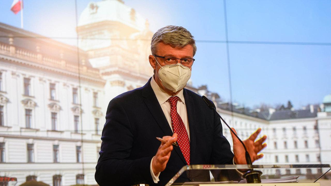 Ministr průmyslu a obchodu Karel Havlíček představil pomoc pro podnikatele zasažené opatřeními proti šíření koronaviru.