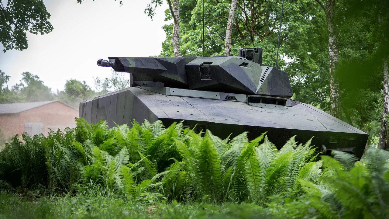 Nové stroje. Česká armáda si vybírá nová bojová vozidla pěchoty. Jedním ze tří nabízených strojů je Lynx německého Rheinmetallu.