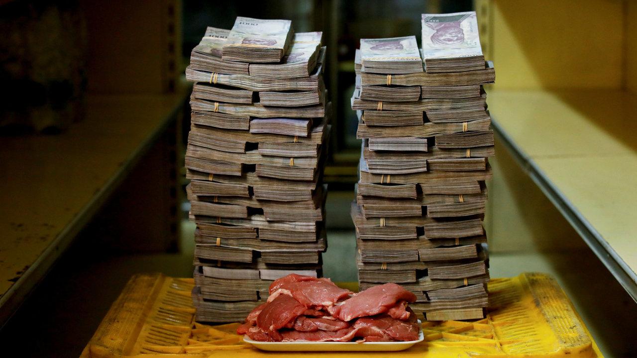 Venezuela, bankovky, hyperinflace
