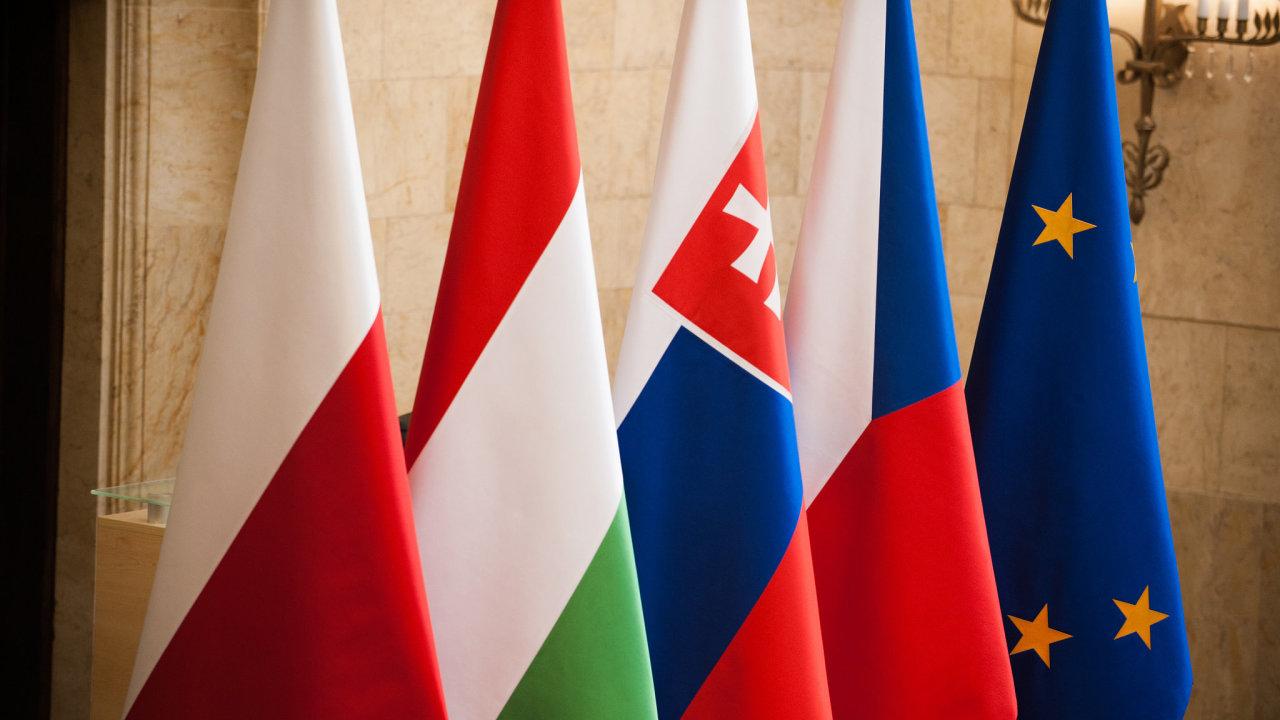 Visegrádská čtyřka, vlajky