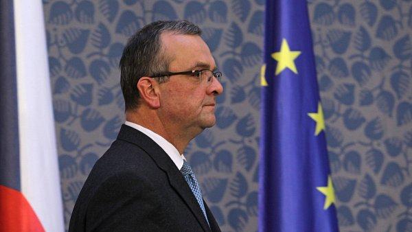 Ministr financ� Miroslav Kalousek (TOP 09)