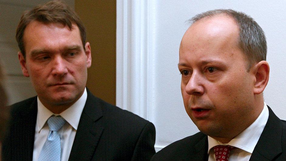 Marek Šnajdr (vlevo) a Ivan Fuksa..