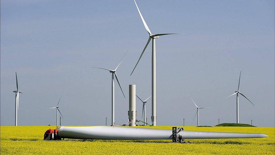 Ilustrační foto. Větrná elektrárna ČEZ v Rumunsku