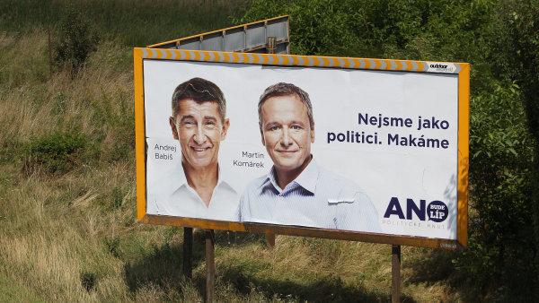 Babiš s Komárkem na billboardu