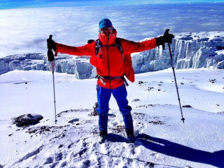 Martin Prokop při výpravě na Kilimandžáro