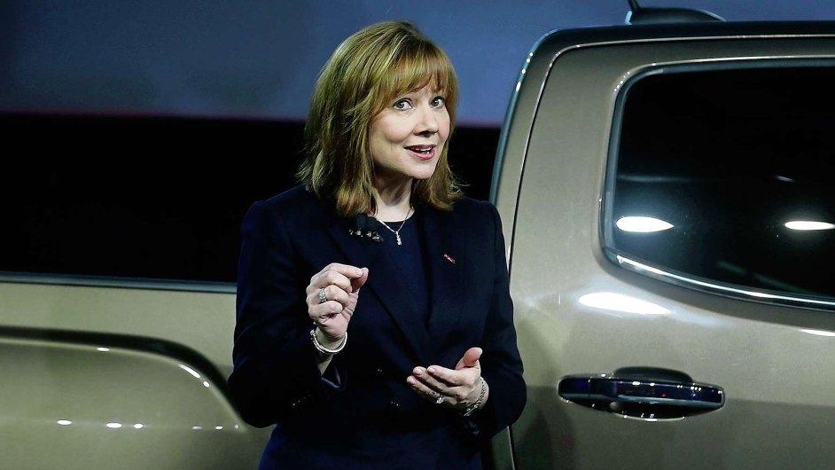 Šéfka firmy General Motors Mary Barraová