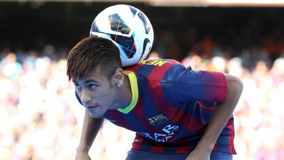 Brazilský útočník Neymar v dresu Barcelony