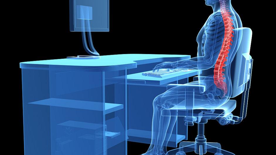 Ergonomie a správné posazení na židli