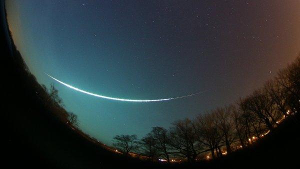 Letící meteorit zachycený v úterý 9. prosince hvězdárnou ve Veselí na Moravě