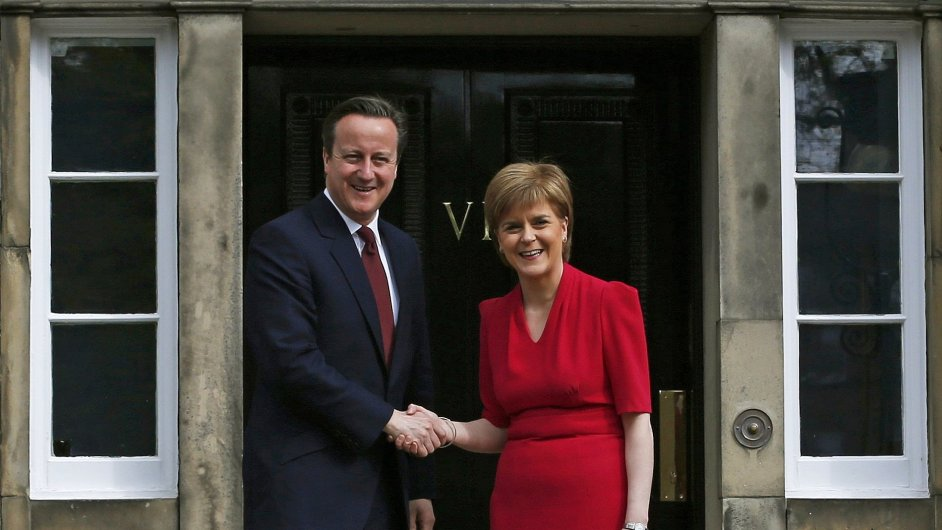 David Cameron a Nicola Sturgeonová