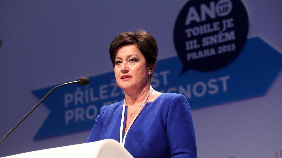 Místopředsedkyně Radmila Kleslová.
