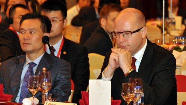 Předseda vlády Bohuslav Sobotka se zúčastnil Česko-čínského podnikatelského fóra Šanghaj 2015.