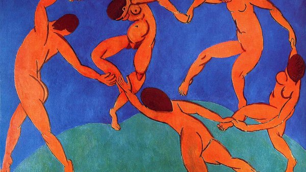 Obraz Henriho Matisse nazvan� Tanec kdysi pat�il Sergeji ��ukinovi, dnes ho m� ve sb�rk�ch petrohradsk� Ermit�.