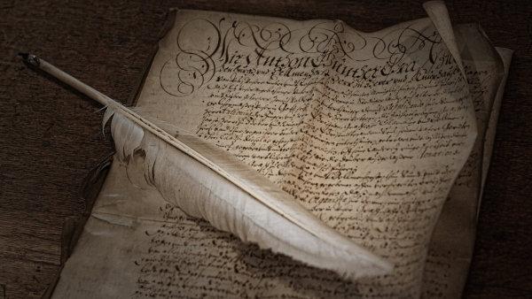 Nejstarší zákon na jemné teletině v parlamentním archivu pochází z roku 1497. - Ilustrační foto