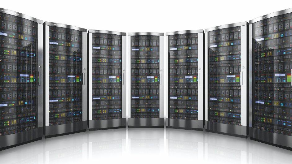 Datové centrum, úložiště dat, ilustrační foto