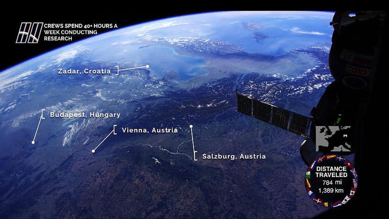 Za tři minuty přes jižní Evropu. Proleťte se s ISS od Madridu k Budapešti.