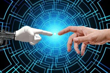Umělá inteligence, robotizace, ilustrace