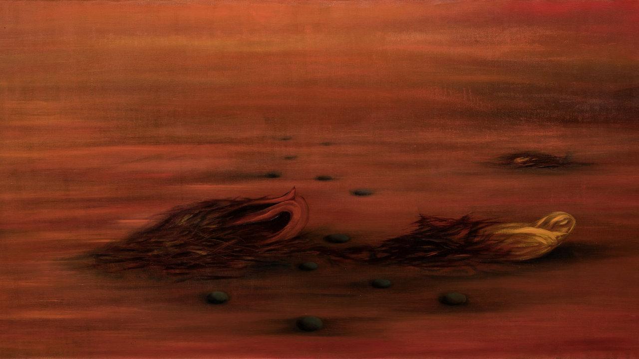 Obraz malířky Toyen nazvaný A teď, když přijde čas byl na aukci vydražen za 19,4 milionu korun.