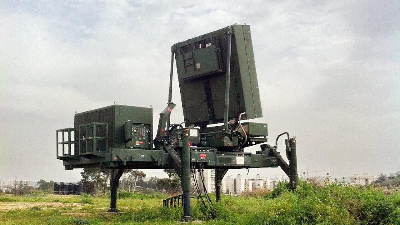 Izraelský radar ELM-2084, které vyrábí izraelská státní společnost IAI Elta.