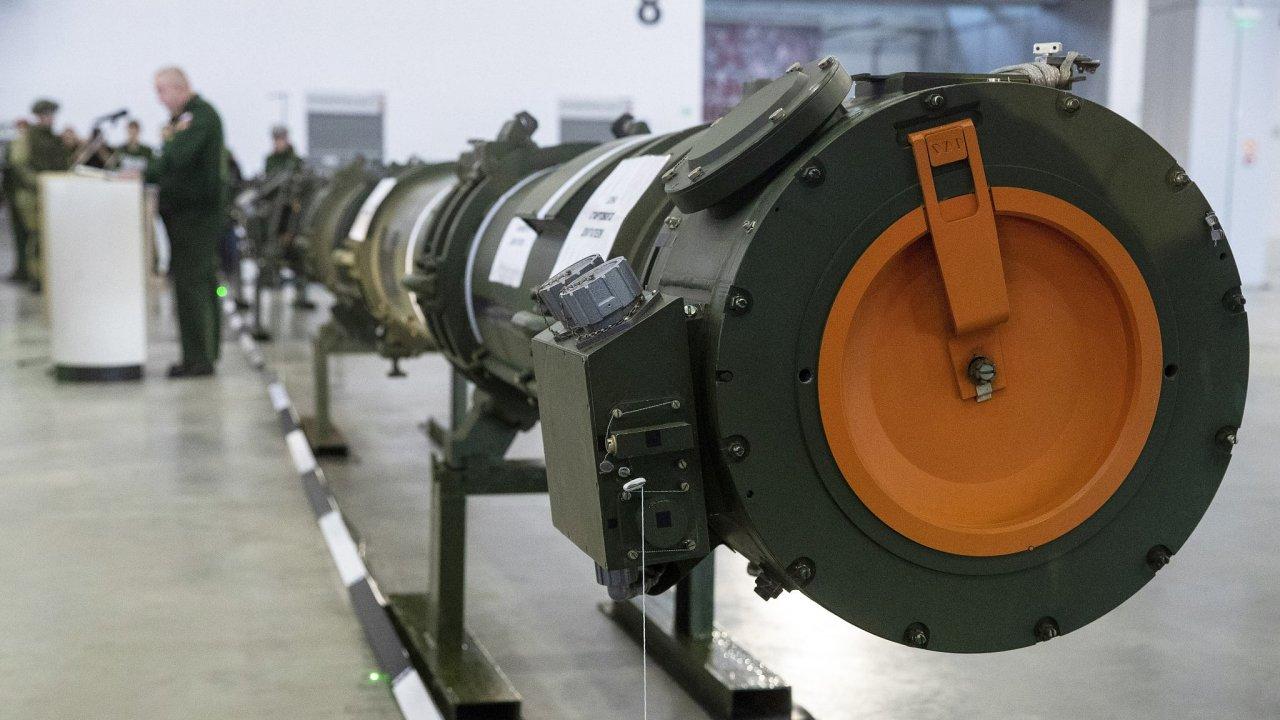 Řízená raketa 9M729 v ruské Kubince.