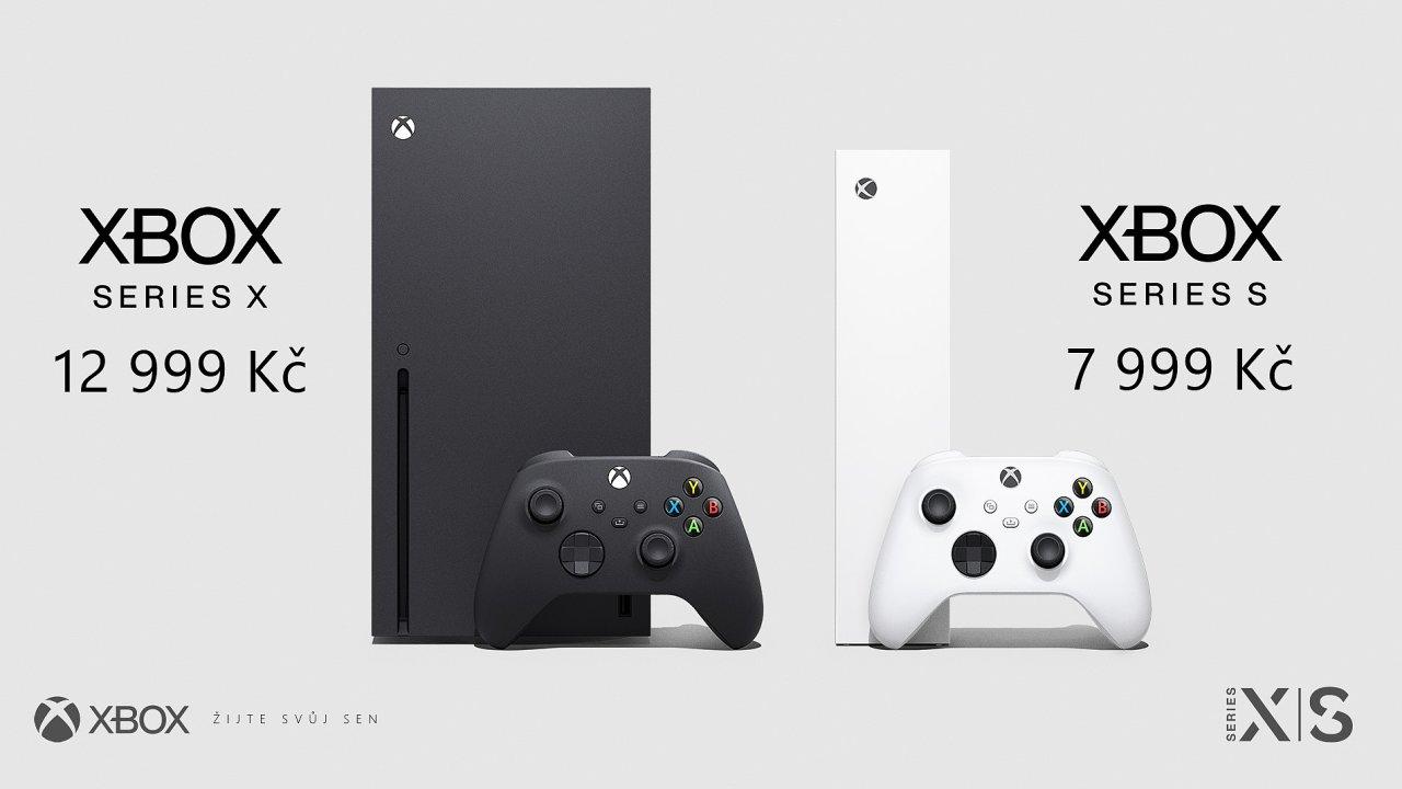 Xbox Series S a Xbox Series X s oficiálními českými cenami