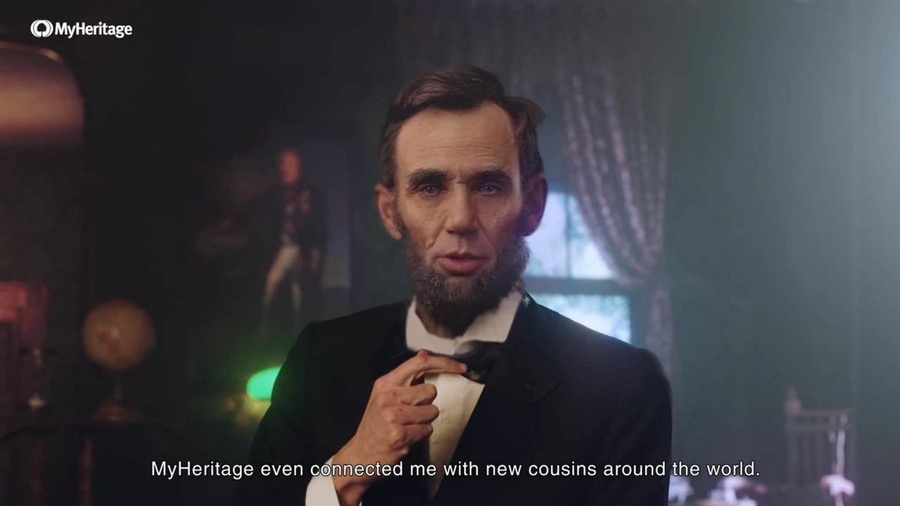 Abraham Lincoln zemřel před více než 150 lety. Přesto před necelým měsícem znovu ožil ve videu, které na portál YouTube umístila izraelská společnost MyHeritage.