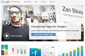 Google plus spouští stránky pro firmy, zatím jsou hodně pusté a syrové