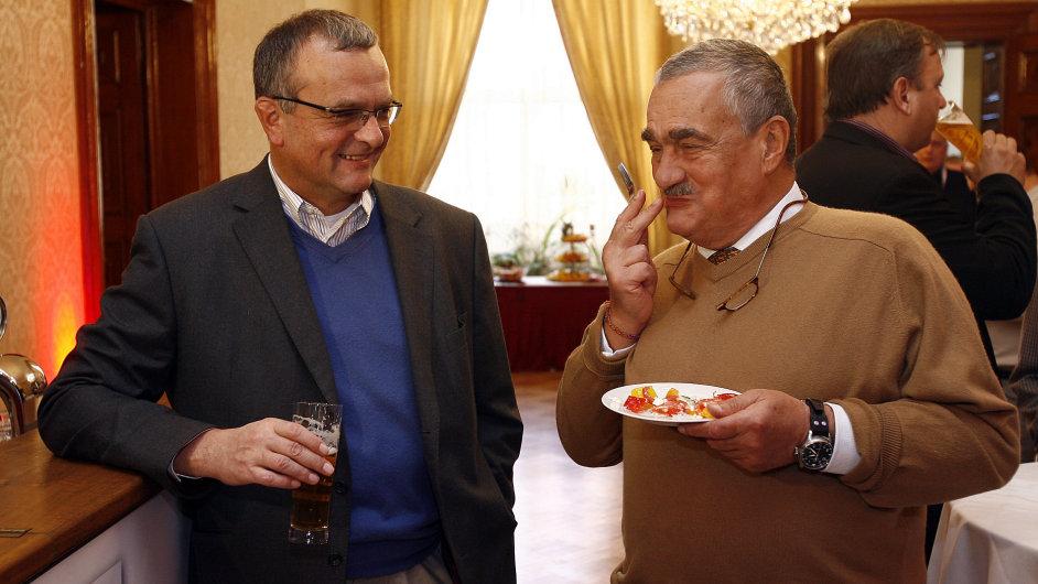Miroslav Kalousek a Karel Schwarzenberg