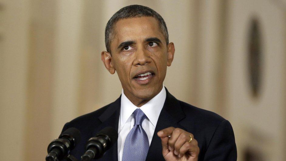 Barack Obama při televizním projevu k syrské krizi