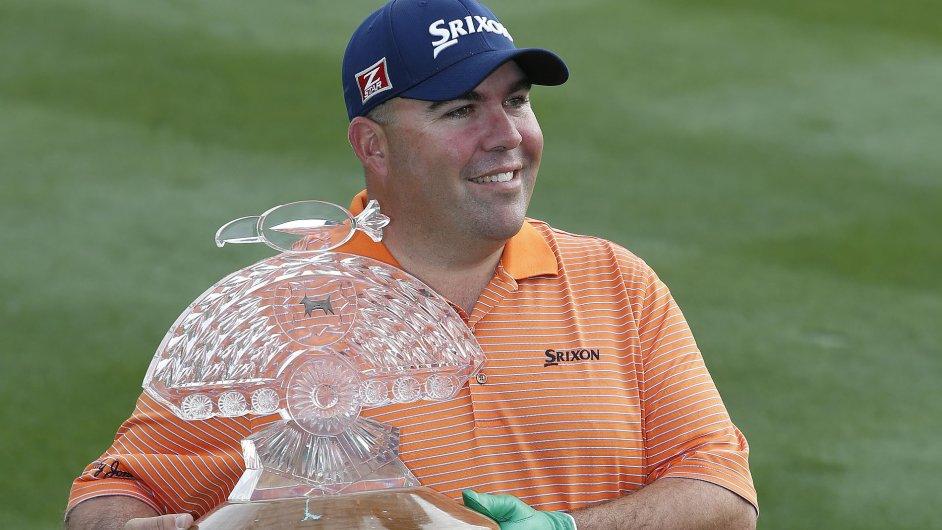 Kevin Stadler jako čerstvý vítěz golfového Phoenix Open