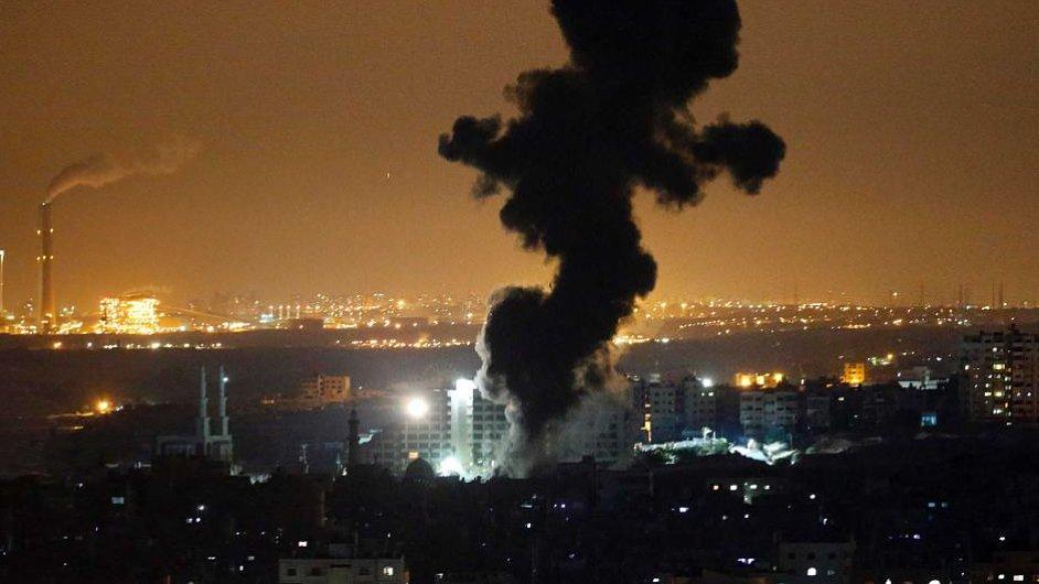 Výbuch v pásmu Gazy. Pondělí 14. 7. 2014