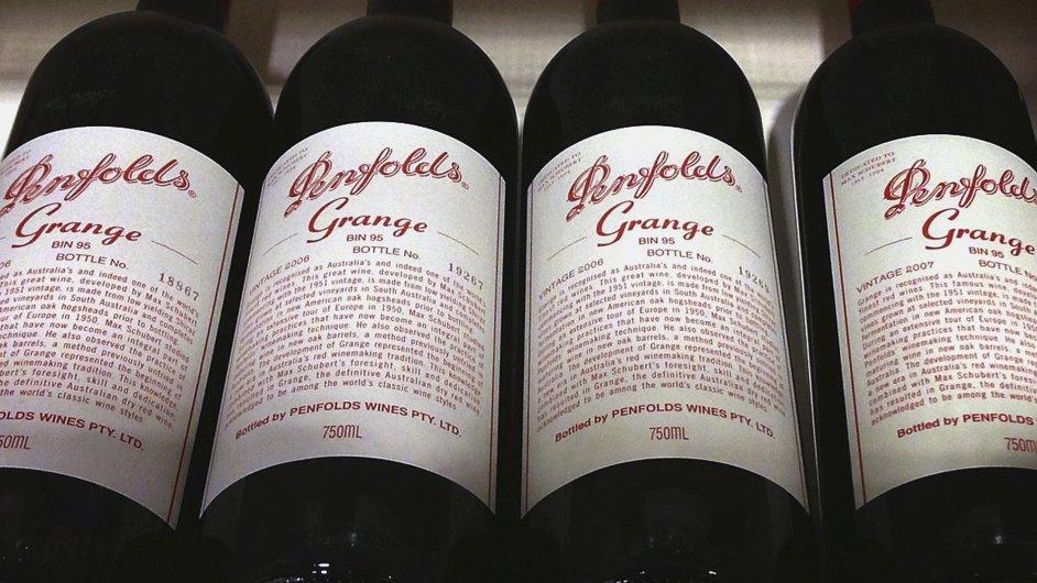 Pod australský konglomerát TWE patří i vína značky Penfolds
