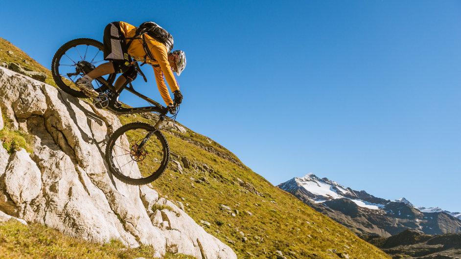 Z vrcholu dolů. Livigno je rájem pro bikery.