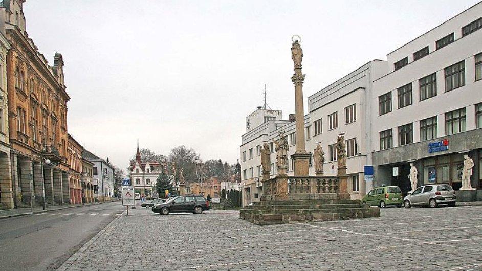 Nová Paka - náměstí, district Jičín