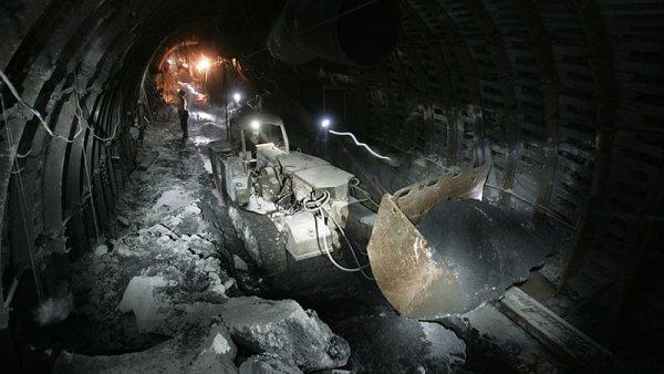 Těžba uhlí v polské společnosti Kompania Weglowa.