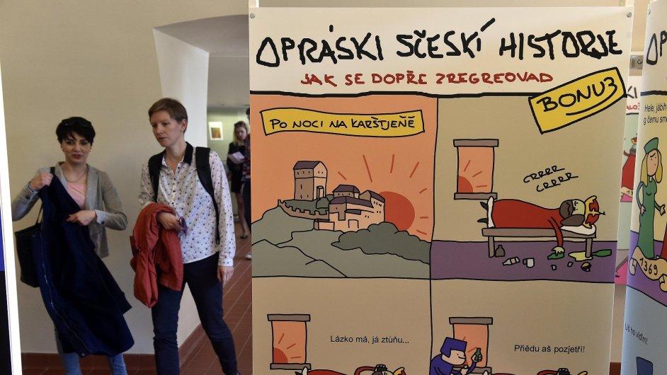Snímek z výstavy na hradě Špilberk