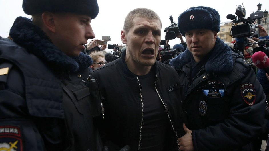 Moskva, protest, policie