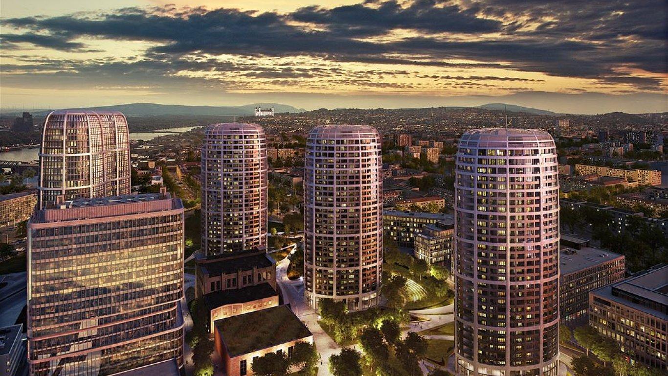 Vizualizace budovy, kterou v Bratislavě začala stavět společnost Penta.