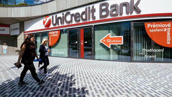 České a slovenské UniCredit Bank stoupl v září zisk o pětinu.