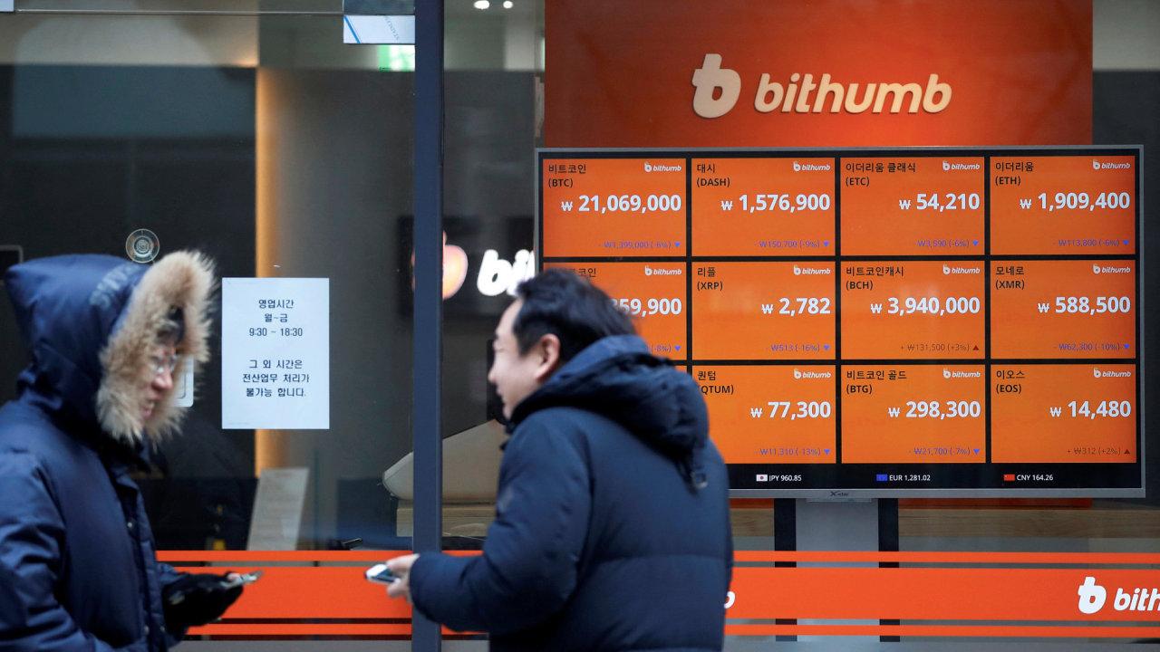 Bitcoin, kryptoměny, Korea