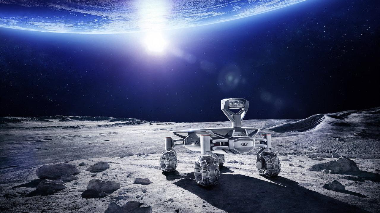 Lunární vozítko Audi bude na Měsíci natáčet videa, která přes měsíční mobilní síť zašle na Zemi.