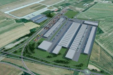 V průmyslové zóně Mošnov u Letiště Leoše Janáčka Ostrava vyrůstá nové logistické centrum.