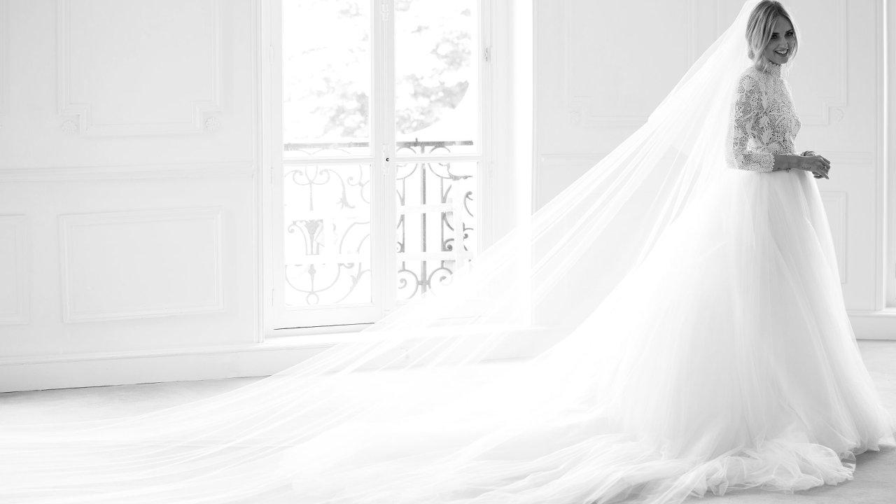 Chiara Ferragni ve svatebních šatech