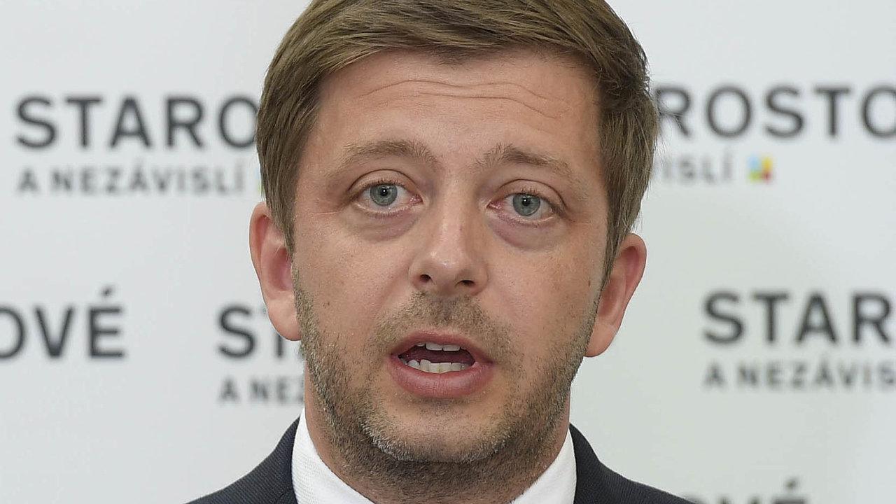 Předseda Starostů anezávislých Vít Rakušan je pro to, aby strany pravého středu vytvořily blok, jehož cílem by bylo porazit Andreje Babiše ajeho hnutí ANO.