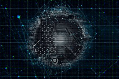 Propojení, sítě, virtualizace, ilustrace